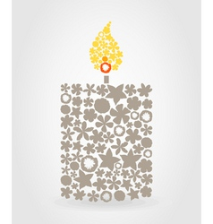 candle vector image vector image
