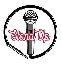 Color vintage stand up comedy show emblem vector