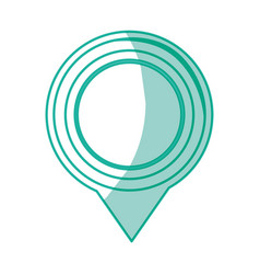map pointer symbol vector image