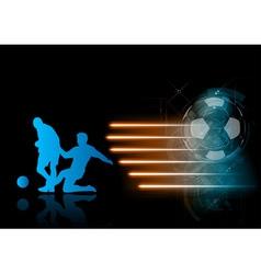 soccer modern background blue vector image vector image