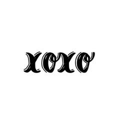 xoxo brush hand drawn vector image vector image