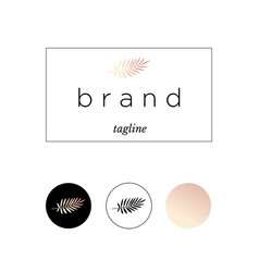 branding logo identity for product or company vector image vector image