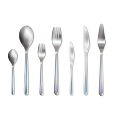 Cutlery Reception Dinner Set Realistic Image vector image vector image