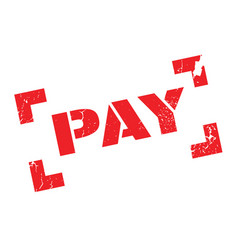 pay rubber stamp vector image