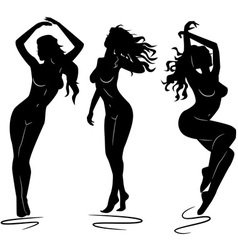 sexy woman silhouettes vector image vector image