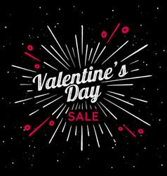 valentines day vintage vector image