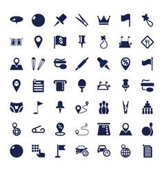 49 pin icons vector