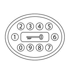 Abstract digital key vector