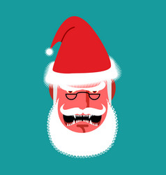 Angry santa claus red with anger people grumpy vector