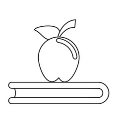 apple book school symbol thin line vector image