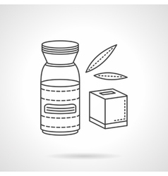 Baby beverage flat line icon Organic food vector