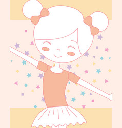 beautiful smiling ballerina ballet in classic tutu vector image