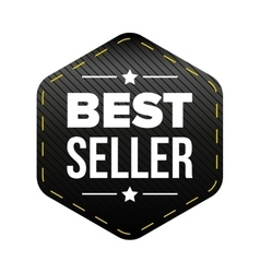 Best Seller black patch vector image