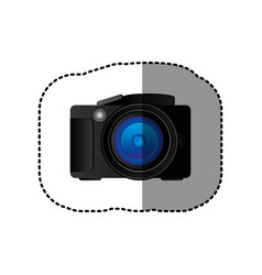 Black camera icon image vector