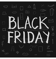 Black Friday lettering vector