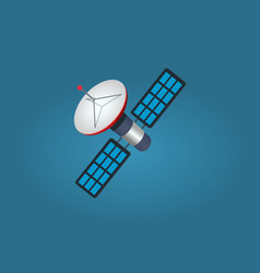 Cartoon artificial satellite isolated vector