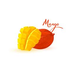 Cartoon delicious ripe mango vector