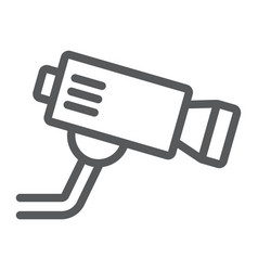 cctv camera line icon privacy and video security vector image