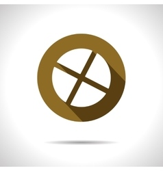 circle with cross slot icon Eps10 vector image