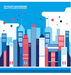 cityscape background downtown with skyscrapers vector image