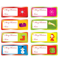 collection of christmas labels vector image