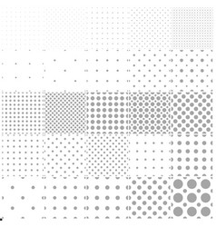 collection simple seamless dotted patterns vector image
