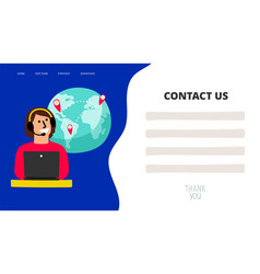 contact us template vector image