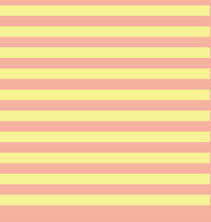 coral orange and yellow horizontal stripes pattern vector image