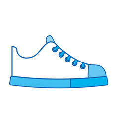 Cute blue icon shoe cartoon vector