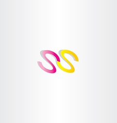 Double letter s icon ss logotype vector