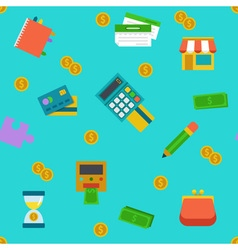 Endless shoping and banking background vector