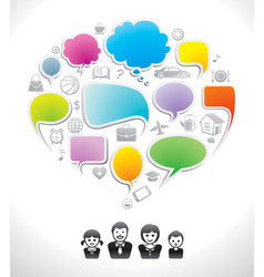 family chat vector image