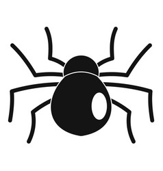 female mouse spider icon simple style vector image