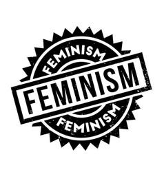 Feminism rubber stamp vector