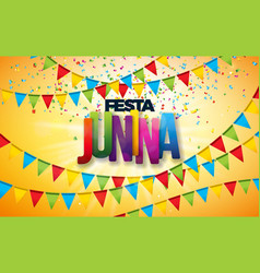 festa junina with party flags vector image