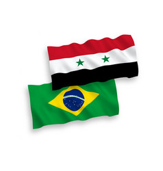 flags brazil and syria on a white background vector image