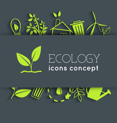 flat eco background concept vector image