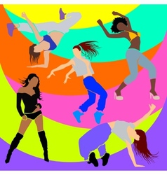 Girl dancer athletic club clubbers clubbing vector
