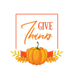 give thanks banner template seasonal poster vector image