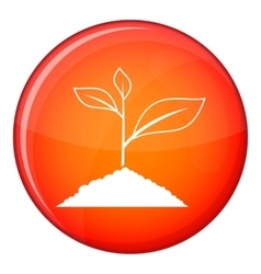 Growing plant icon flat style vector