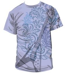 Guitar T-shirt vector