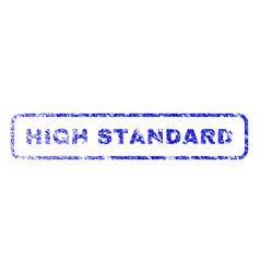 high standard rubber stamp vector image