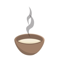 Hot soup bowl vector