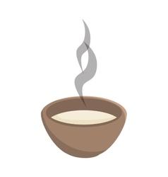 Hot soup bowl vector