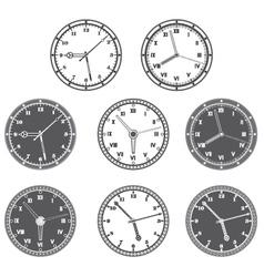 Hours set vector image