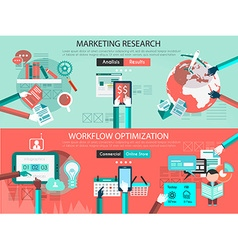 Icon Flat UI designs for marketing research and vector