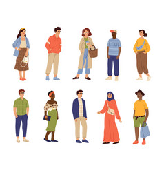 international fashion characters adults person vector image