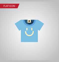 Isolated t-shirt flat icon blouse element vector