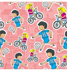 kids playing sport vector image