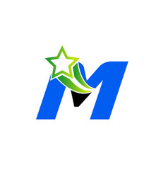 Letter m alphabetical logo design concepts vector